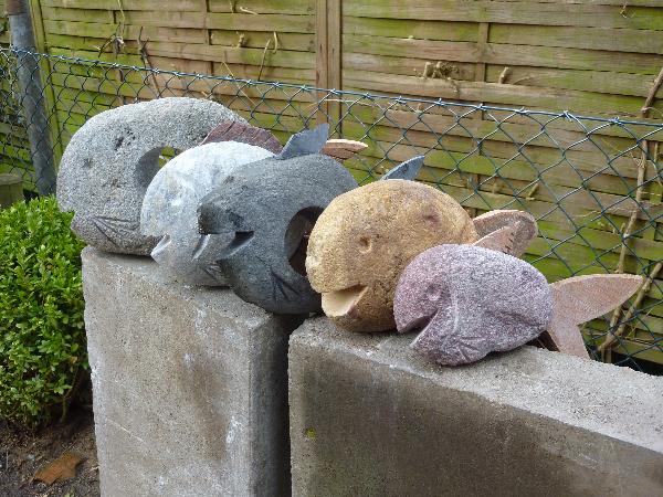 Stein-Fische aus Aum&#...